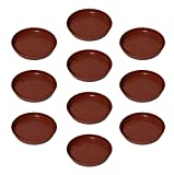 Planters Pack of 10, 8 inch Plastic Bottom Trays for Plant Containers