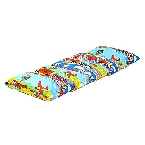 Children's Transport Print Folding Pillow Sleepover Nap Mat