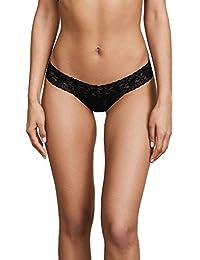 25ecf2234bc2 Hanky Panky Women's Petite Signature Lace Low Rise Thong, Black, One Size
