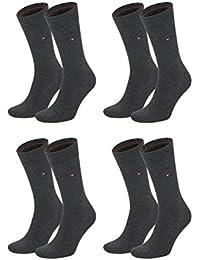 Tommy Hilfiger Herren Classic Business Socken 371111 4Paar, Farbe:Grau;Sockengröße:43-46;Artikel:Socken anthrazit 371111-030
