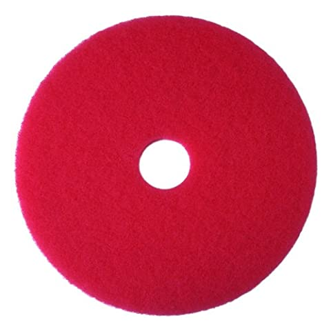 Buffer Floor Pad 5100, 19, Red, 5 Pads/Carton, Sold as