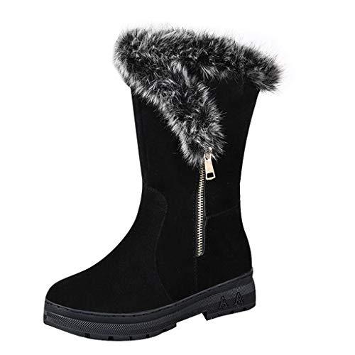 ZARLLE_ Hombre Zapatillas Botas de Nieve para Mujer,Invierno Mantener Caliente Zapatos Planos,ZARLLE...