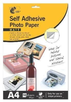sticky back paper Power paper self-adhesive inkjet paper is a waterproof, tear-resistant synthetic paper,  waterproof paper combined with an adhesive back for making labels,.