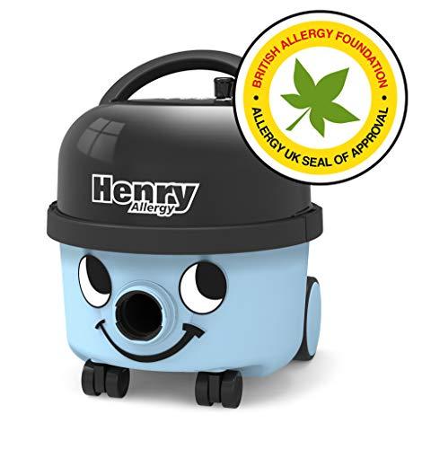 Numatic 908147 Henry Allergy HVA160-11 - Aspiradora con Bolsa (Apto para alérgicos, Incluye Cartucho de Filtro HEPA de Larga duración (H13), 620 W), Color Azul