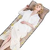 JiuErDP Materasso da massaggio riscaldato per il corpo domestico | Massaggiatore per terapia di calore | Cuscino per massaggio elettrico posteriore | Tappetino con impregnazione e vibrazione del tessu