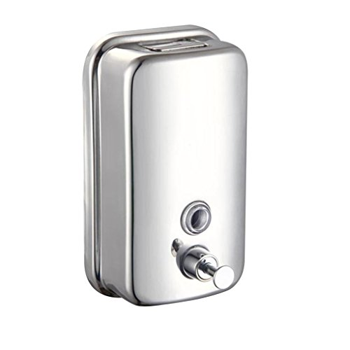 PetHot jabón dosificador dispensador de la Bomba de acción de Pared de Acero stainles de 1000ML