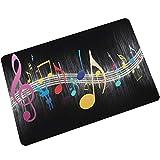 Mode Musique Note Impression Flanelle Salle De Bains Tapis Tapis De Cuisine Tapis De Porte 40 X 60 Cm par Anliyou