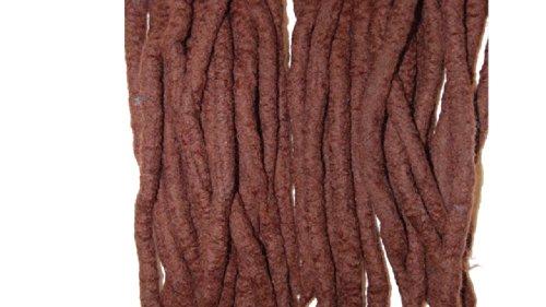 Dark Brown Wool Dreadlocks - Double ended DE merino wool dreads