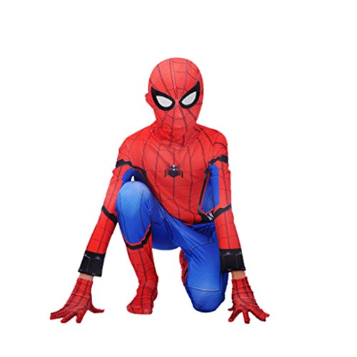 er Spiderman Adult COS Kleidung Strumpfhosen Superman Cosplay Kostüm (Color : A, Size : 140cm) ()