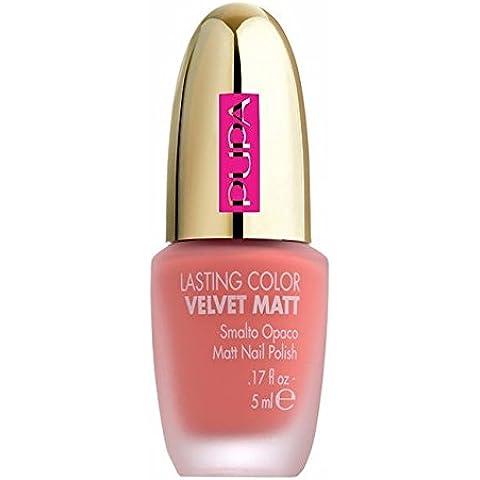 PUPA LASTING COLOR VELVET MATT 002 Fair Pink - Smalto Unghie Collezione DOT (Smalto Dot)
