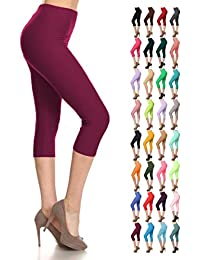 b70650ba0614 The Celebrity Fashion Cropped Leggings for Women 3 4 Length Capri Trousers  Plus Size Classic