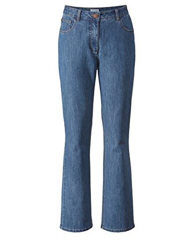 Angel of Style Damen Flare Cut Jeans High Waist Blau -