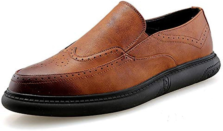 Jiuyue-scarpe, 2018 Men's Oxford Casual Fashion Low Top Ripristina Il Coloreee Comodo intagliare Le Scarpe Brogue... | Vinci molto apprezzato  | Gentiluomo/Signora Scarpa