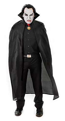 Bristol Novelty AC101 Polyester Dracula Cape, Schwarz, 56-Inch/One Size