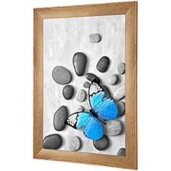 Profil de Largeur 23mm Couleur: Noir Brillant avec Verre Acrylique antireflet Dimensions ext/érieures: 13,4 cm x 13,4 cm Frame World FW23 Cadre Photo en Bois v/éritable pour 10 cm x 10 cm Photos