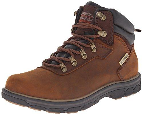 Skechers Men's SegmentAnder Unlined classic boots half length, Brown (Marron), 9 UK