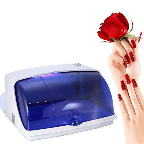 JYZ Salon Sterilisator, Professionelle Salon UV Desinfektion Temperatur Desinfektionsmittel Schrank Schönheit Tattoo Nagel Werkzeuge Ausrüstung, 5 Watt Power Bouncing Schalter (Blau) -