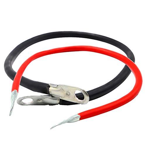 perfk 2 x Batteriekabel 16mm² 50cm Kupfer Stromkabel mit Ringösen M10 schwarz 12V KFZ Kabel auch für Ihr Auto Ladegerät