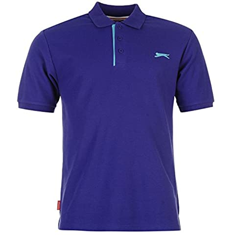 Polo Slazenger - SLAZENGER Polo pour Homme Uni Violet Top
