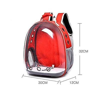 GBX Mochila de Viaje Banda del Animal doméstico portátil Mochila Transpirable de Viaje para Mascotas portátil, Cápsula Espacial Bolsa para Mascotas Cápsula Espacial Diseño de Burbuja, Mochila imperme de GBX