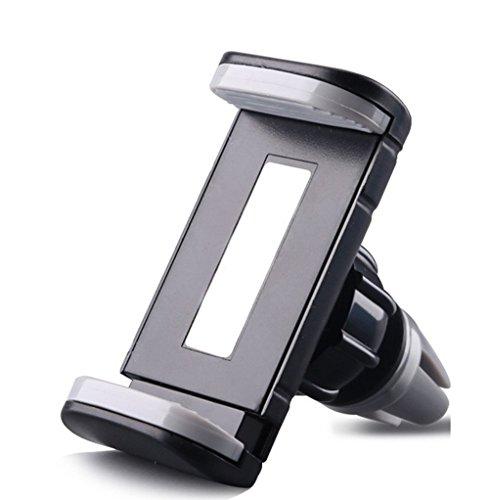 Hosaire Soporte para teléfono del coche montaje de la salida de 360 grados soporte de coche para iPhone Navi 7 / 7plus etc Plus 6/6 / 5S / SE / 5 / 4S / 4 Galaxy Huawei - Negro