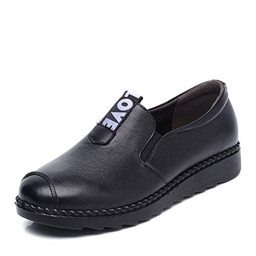 Scarpe di tacco piatto casual donne di mezza età/Scarpe di mamma/ fine morbido di Lok Fu scarpe scarpe/Vecchia scarpa-A Lunghezza piede=24.8CM(9.8Inch)