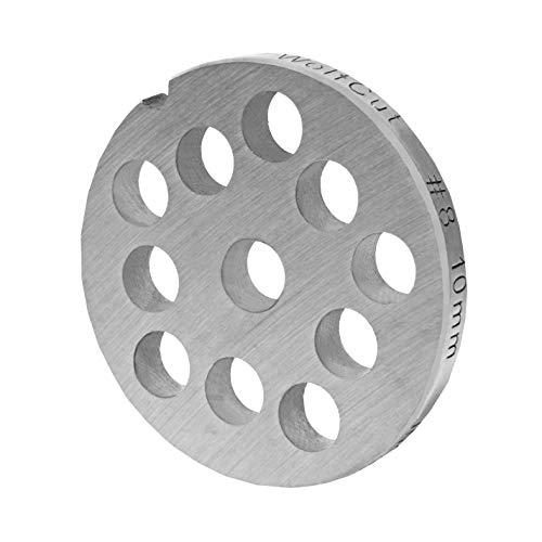 WolfCut INOX Lochscheibe Gr. 8-10,0 MM Bohrung - für Fleischwolf Jupiter - Bosch - Alexanderwerk