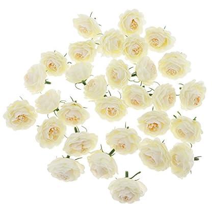 petsola 30pcs Cabeceras De Flores De Camelia De Seda Artificial A Granel Boda Floral Suministros De Pared