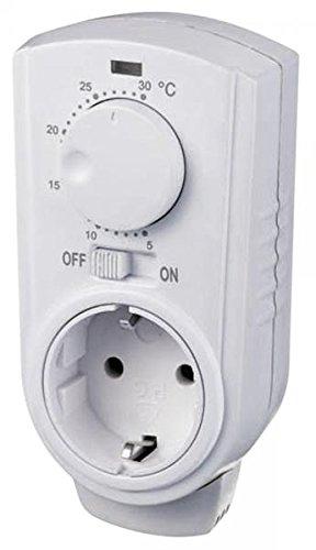 "Steckdosen-Thermostat McPower\""TCU-330\"" 5-30°C, max. 3500W, 230V/16A"