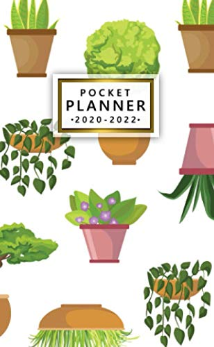 pocket planner 2020-2022: nifty three year organizer & agenda with monthly spread view | cute 3 year diary & calendar with inspirational quotes, password log, phone book & notes | pretty house plants