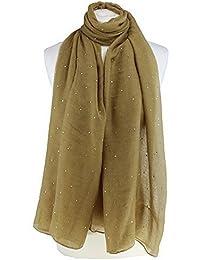 Reino Unido Vendedor hermosa piedra con tachuelas grande extragrande Maxi suave chal bufanda Hijab Sarong Wrap
