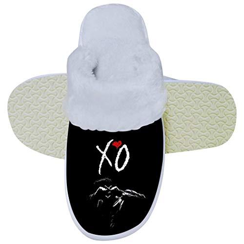 352 XO The Week-nd - Pantofole Unisex in Memory Foam per Camera da Letto, Calde, per Interni ed Esterni, Bianco, 10.5-11B(M) USWomen / 9-9.5D(M) US Men