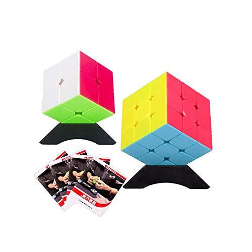 YXHUI El cubo de Rubik, el cubo de Rubik a dos caras asequible, el desarrollo suave de elementos pequeños intelectuales, fácil de usar, se puede usar como regalos (segundo y tercer orden) Good mood, g