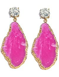 Chooseberry Gold Plated Bollywood Style Pink Stone Earrings For Girls & Women Wedding And Party Wear Dangle &...