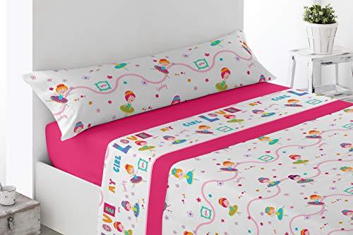 Cabetex Home - Juego de sábanas Infantiles - Motivos Bailarina - 3...
