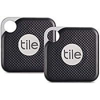 Tile Pro avec pile remplaçable - Localisateur de clés. Localisateur de téléphone. Localisateur d'objets - 2 par lot