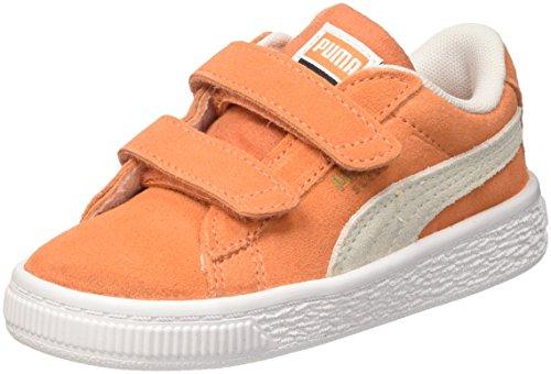 Puma Unisex-Kinder Suede Classic V Inf Sneaker, Orange (Melon White), 25 EU