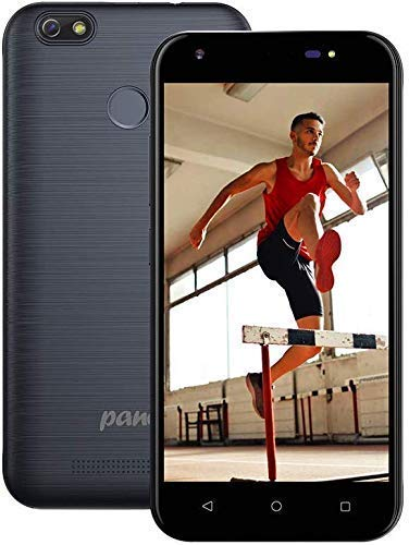 P1 3G Téléphone Portable Pas Cher - Smartphone Android 7.0 Débloqué, Écran 5 Pouces, 1GB+8GB, 5MP+Selfie 5MP Double Caméras, Déverrouillage par Empreinte Digitale, GPS, G-Sensor, Bluetooth