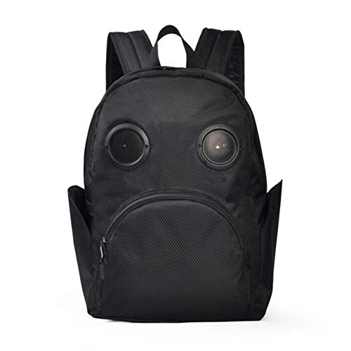 HWX Neuer Rucksack, wasserdichter Multifunktionslaptop-Laptop-Rucksack, Bluetooth-Lautsprecher College Large-Capacity-Schultasche (Farbe : Schwarz, Größe : 32cm*15cm*43cm-Bluetooth)
