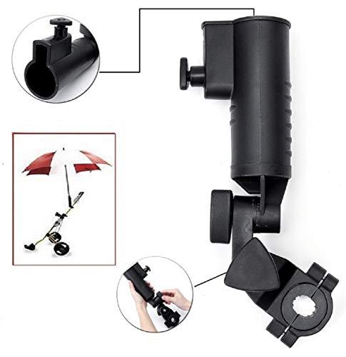 LL-Golf ® Golf Trolley Universal Schirmhalter V2 mit 3 Distanzelementen zum Befestigen (2,5/3,0/3,5cm) / mit 2 verstellbaren Gelenken/Halter/Umbrella Holder