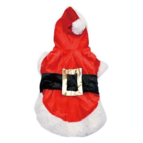 YiJee Tier-Kostüm Hund-Pullover Haustier-Pullover Anzug Sankt-Hündchen-Kleidung Rot (Anzug Dog Hot)