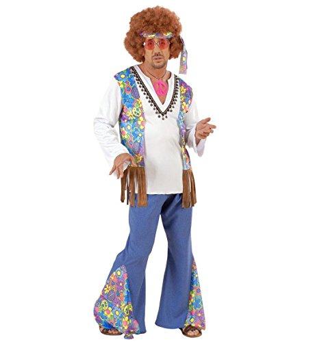 Widmann 56023 - Erwachsenenkostüm Woodstock Hippiemann, Größe L