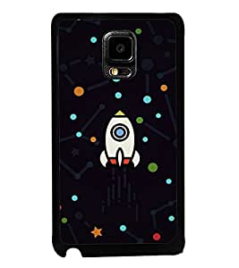 printtech Rocket Dots Design Back Case Cover for Samsung Galaxy Note i9220::Samsung Galaxy Note 1 N7000