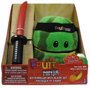 Jazwares - PELJAZ005 - Peluche - Fruit Ninja - Pastèque