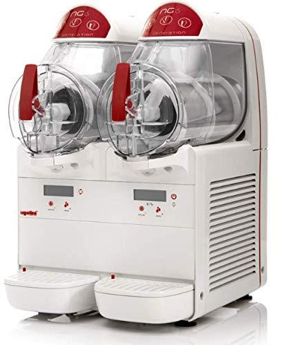 Máquina para granizados sorbetes cremas frías UGOLINI NG6/2 ELETTRONIC - 2 recipientes de 6 litros - Dispensador Made in Italy