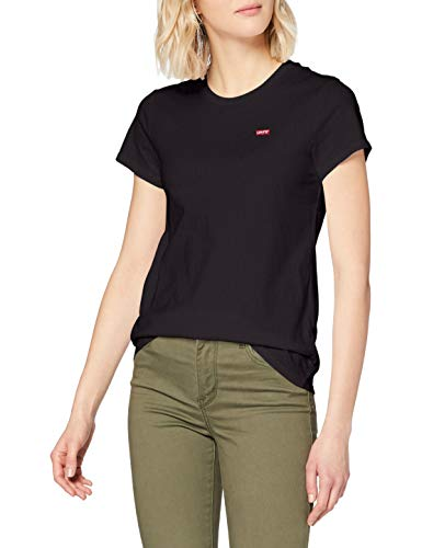 Levi's The Perfect Tee, T-shirt Donna, Nero (Caviar 2 0008), Small