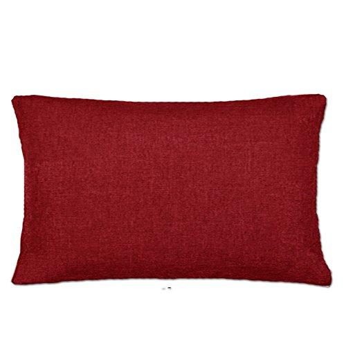 Kissenbezug Kissenhülle in 3 Größen Bezüge Kissen Kissenhüllen Leinenlook von JEMIDI Kissen Bezug Bezüge Hülle Kissenbezüge 40cm x 60cm Rot