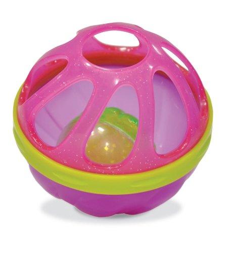 munchkin マンチキン おふろおもちゃ バスボール 揺れたりころがったりすると音が鳴る ピンク