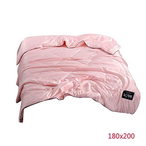 Floridivy Sommer-Super Soft Polyester-Deckbett-Solid Color Klimaanlage Bettbezug Bettwäsche Nahtlose atmungsaktiv - Klimaanlage Color-glanz