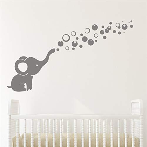 nkfrjz Aufkleber niedlichen Elefanten Blasen Blasen Wall Decal Art Vinyl Baby wandaufkleber kinderzimmer